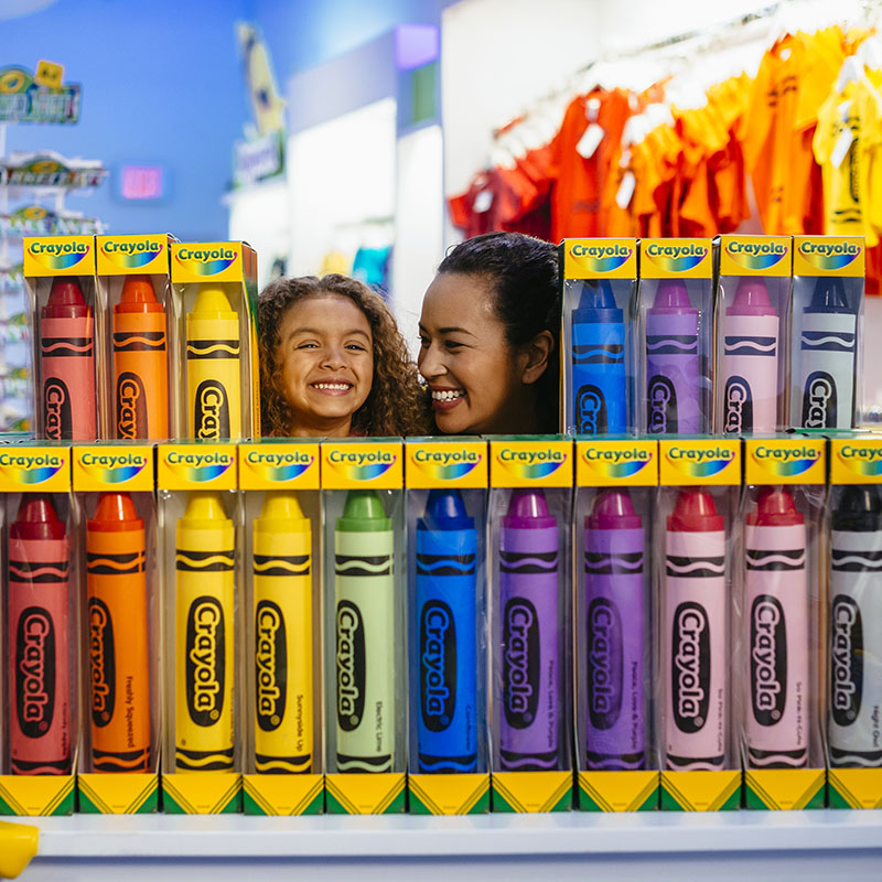Two pound crayons at The Crayola Store