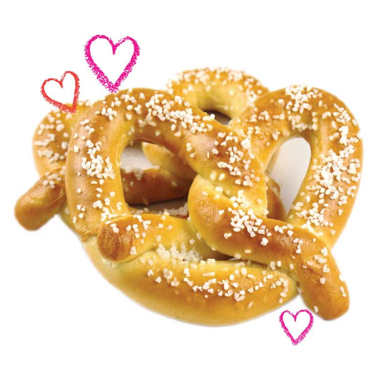 Photo of a soft pretzel