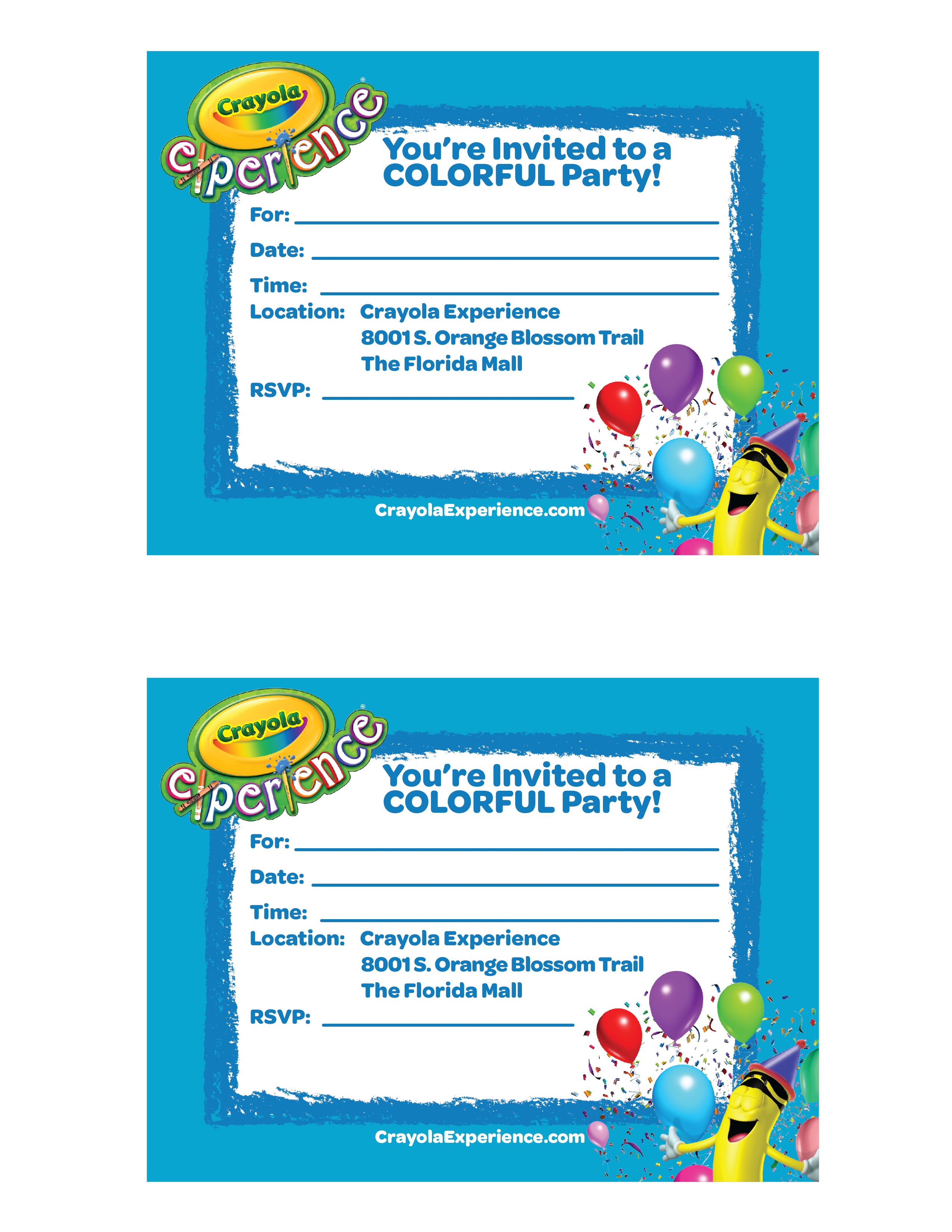 Kids Birthday Parties & Group Trips in Orlando | Crayola Experience