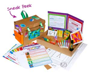 Crayola supplies and at home crafts included in Home Adventure kits