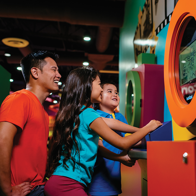 Kids playing at Crayola Experience