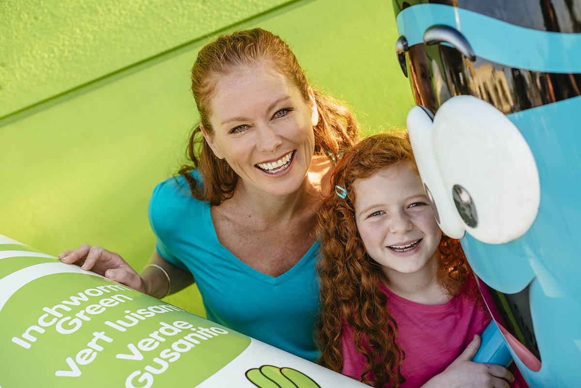 Woman and young girl at Crayola Experience
