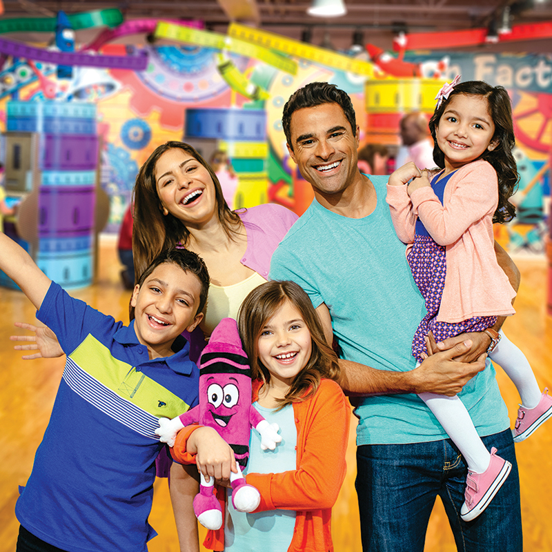 Family with children at Crayola Experience